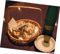 海老の松茸はさみ揚げ
